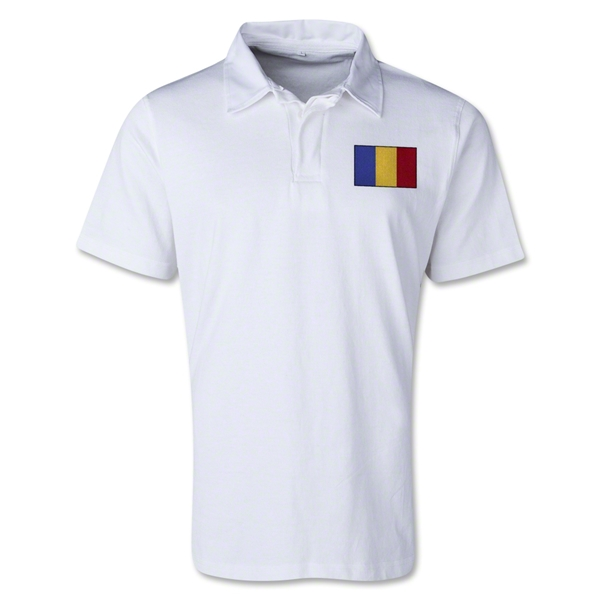 Romania Retro Flag Shirt (White)
