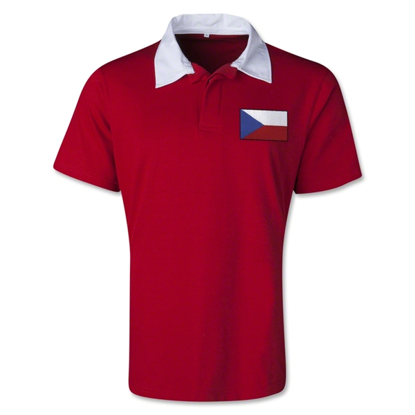 Czech Republic Retro Flag Shirt (Red)