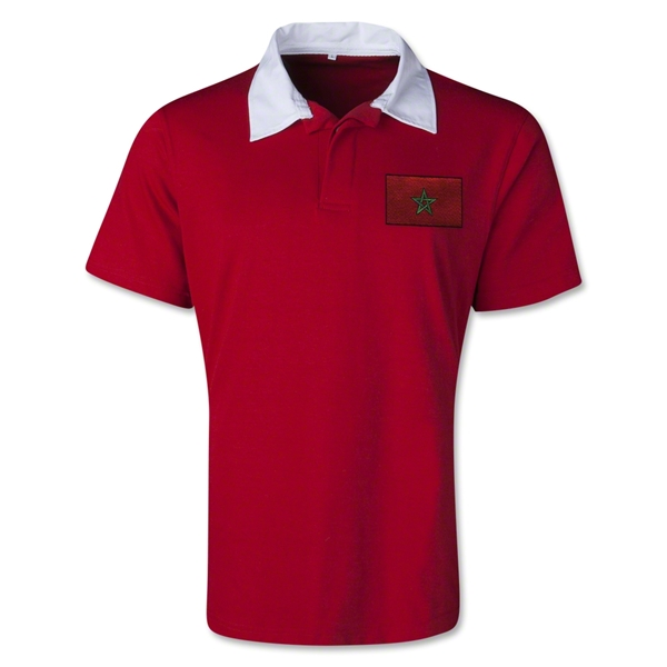 Morocco Retro Flag Shirt (Red)