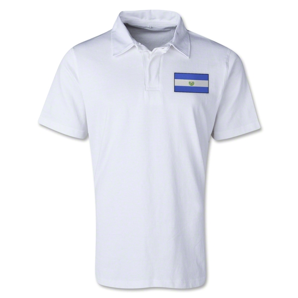 El Salvador Retro Flag Shirt (White)