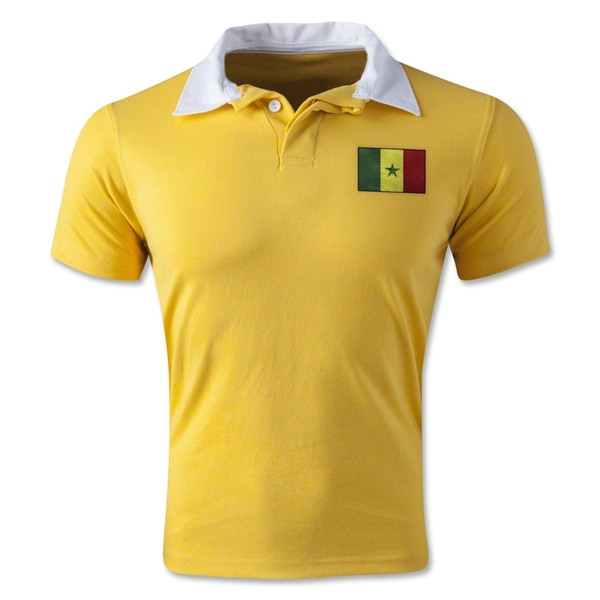 Senegal Retro Flag Shirt (Yellow)