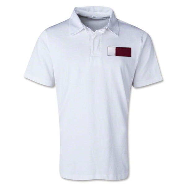 Qatar Retro Flag Shirt (White)