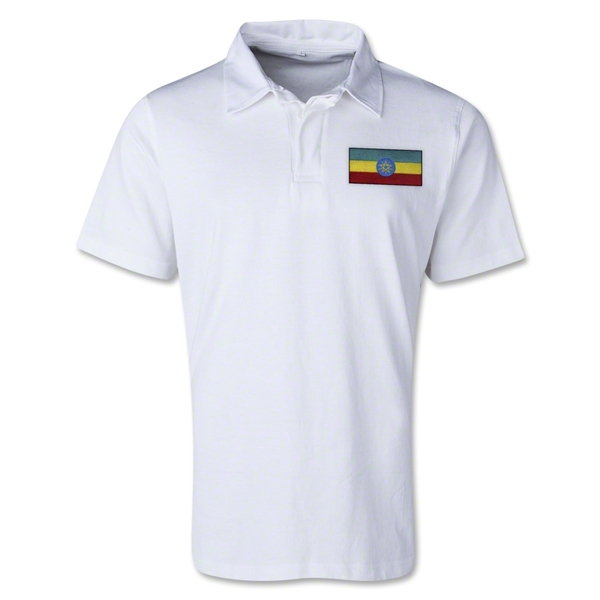 Ethiopia Retro Flag Shirt (White)
