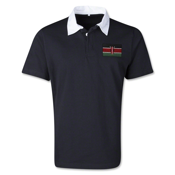 Kenya Retro Flag Shirt (Black)