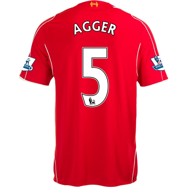 Liverpool 14/15 AGGER Home Soccer Jersey