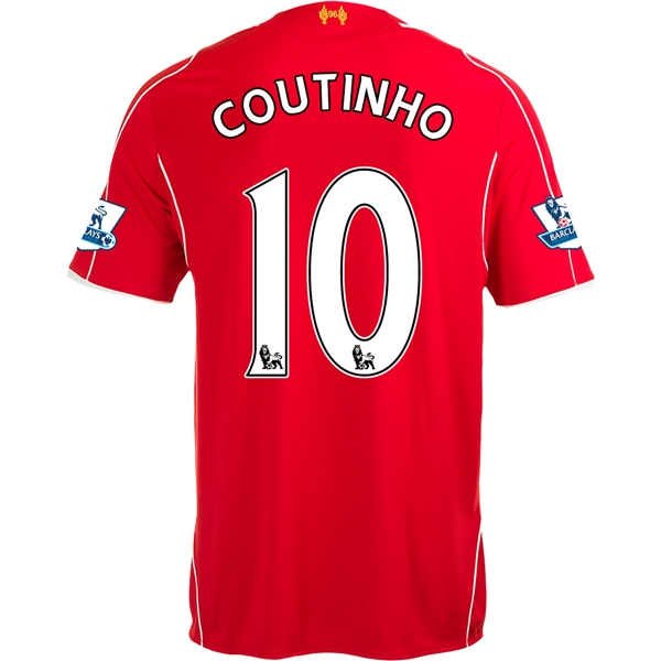 Liverpool 14/15 COUTINHO Home Soccer Jersey