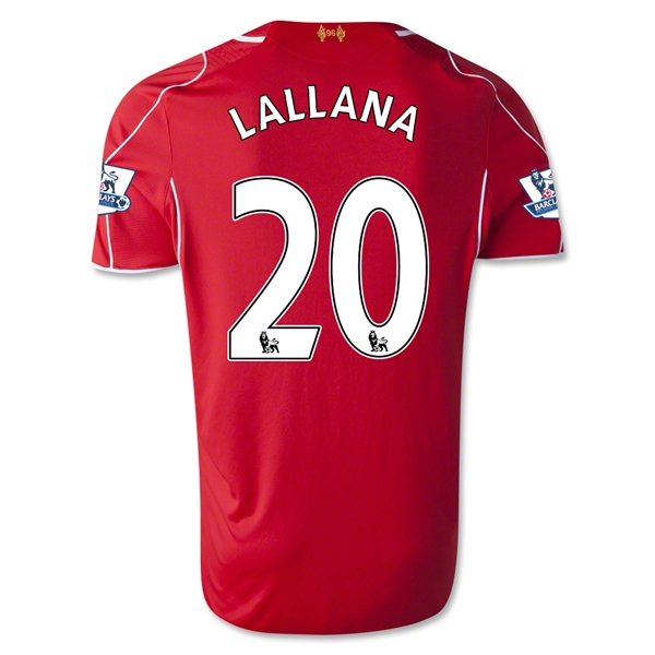 Liverpool 14/15 LALLANA Home Soccer Jersey