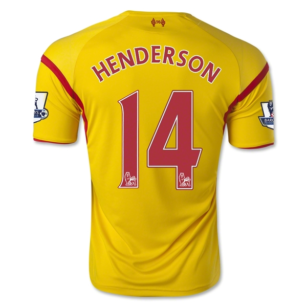 Liverpool 14/15 HENDERSON Away Soccer Jersey