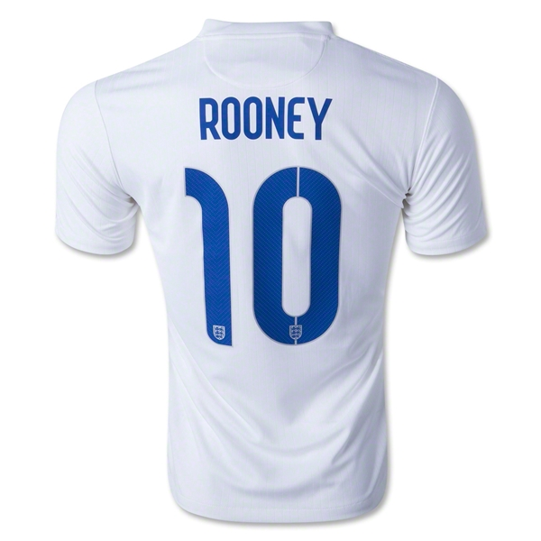 England 2014 ROONEY Home Soccer Jersey