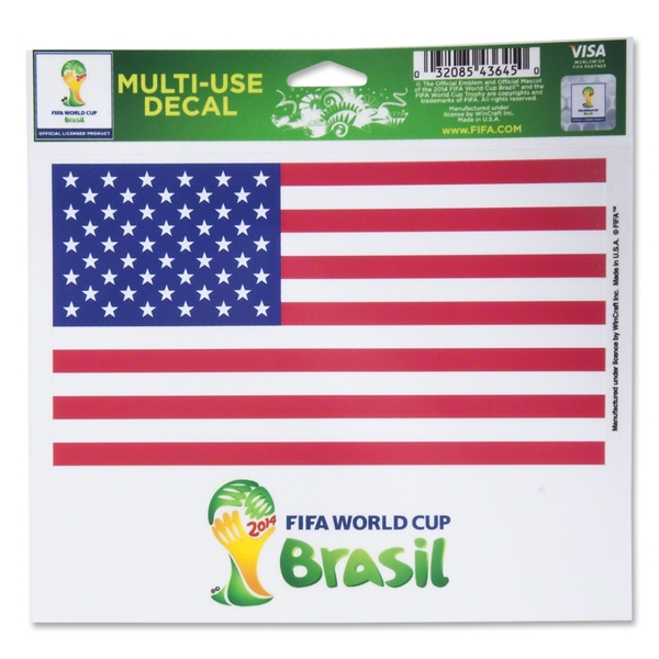 USA 2014 FIFA World Cup Brazil(TM) 5 x 6 Decal