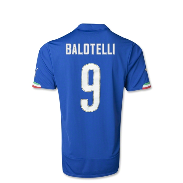 Italy 14/15 Mario Balotelli Youth Home Soccer Jersey