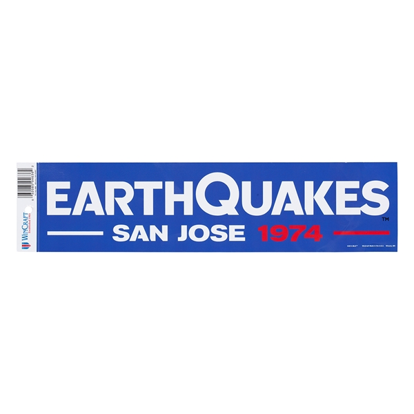 San Jose Earthquakes Bumper Sticker