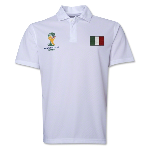 Italy 2014 FIFA World Cup Polo (White)