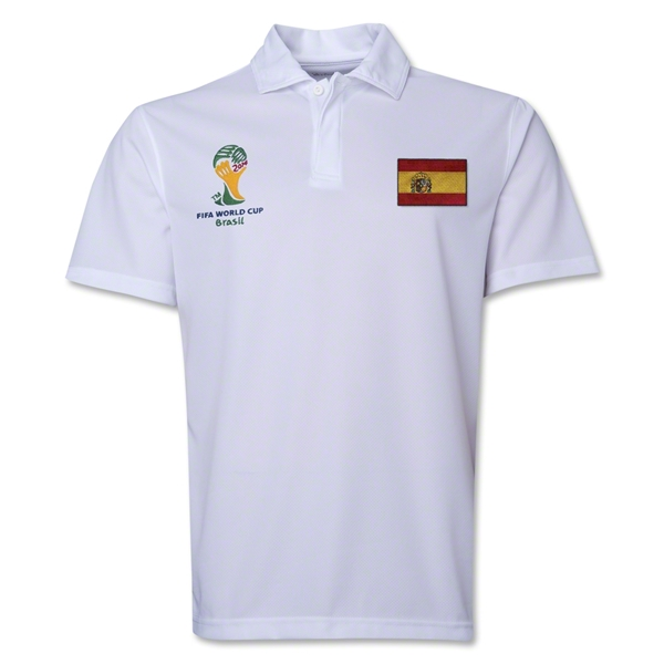 Spain 2014 FIFA World Cup Polo (White)