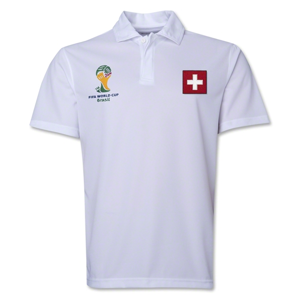 Switzerland 2014 FIFA World Cup Polo (White)