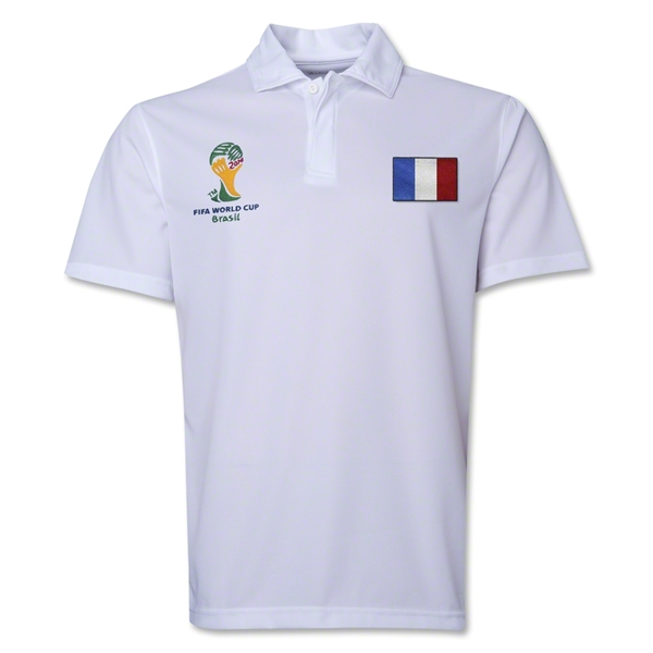 France 2014 FIFA World Cup Polo (White)