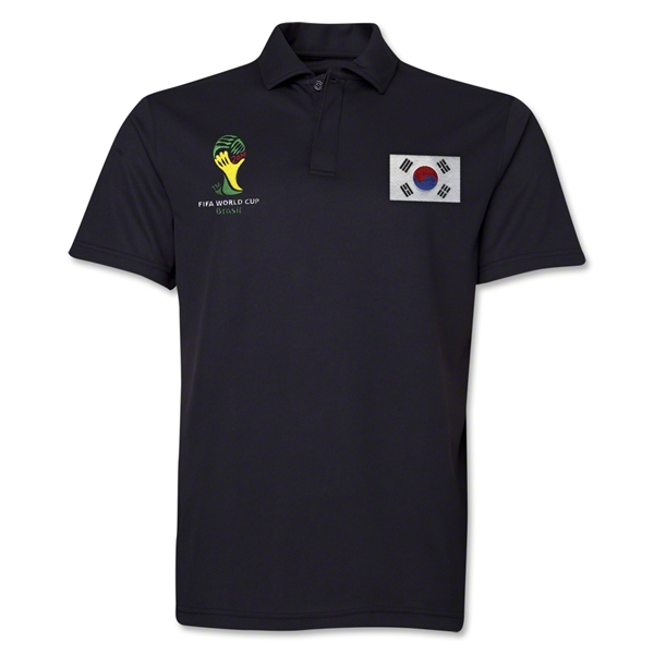 South Korea 2014 FIFA World Cup Polo (Black)