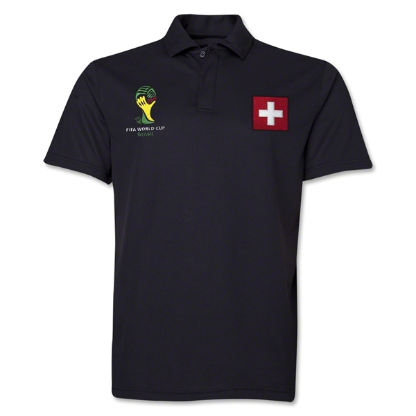 Switzerland 2014 FIFA World Cup Polo (Black)