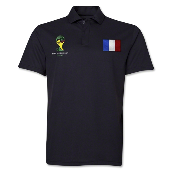 France 2014 FIFA World Cup Polo (Black)