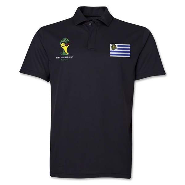 Uruguay 2014 FIFA World Cup Polo (Black)
