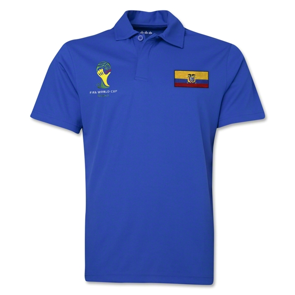 Ecuador 2014 FIFA World Cup Polo (Royal)