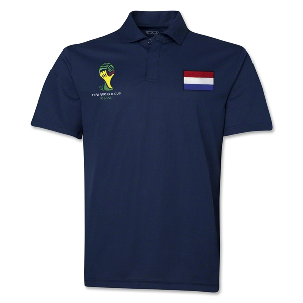 Netherlands 2014 FIFA World Cup Polo (Navy)