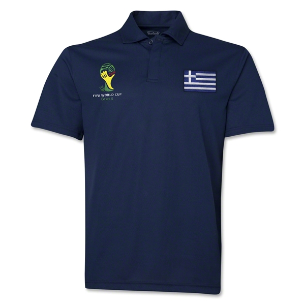 Greece 2014 FIFA World Cup Polo (Navy)