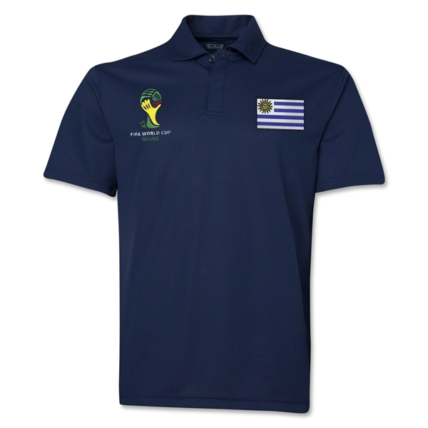 Uruguay 2014 FIFA World Cup Polo (Navy)