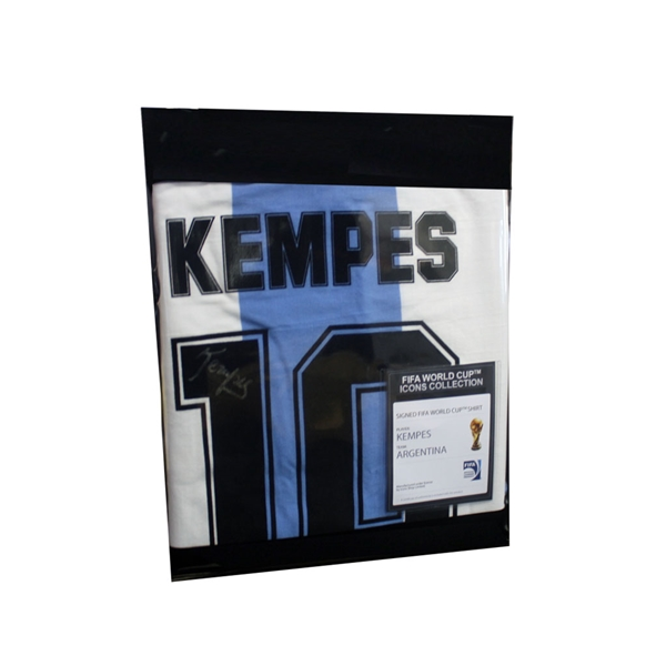 Mario Kempes Signed Argentina Jersey