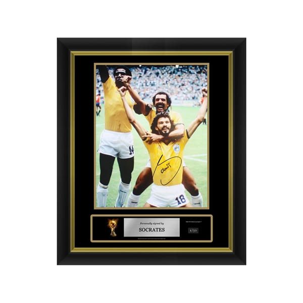 Socrates Signed Brazil Photo 1