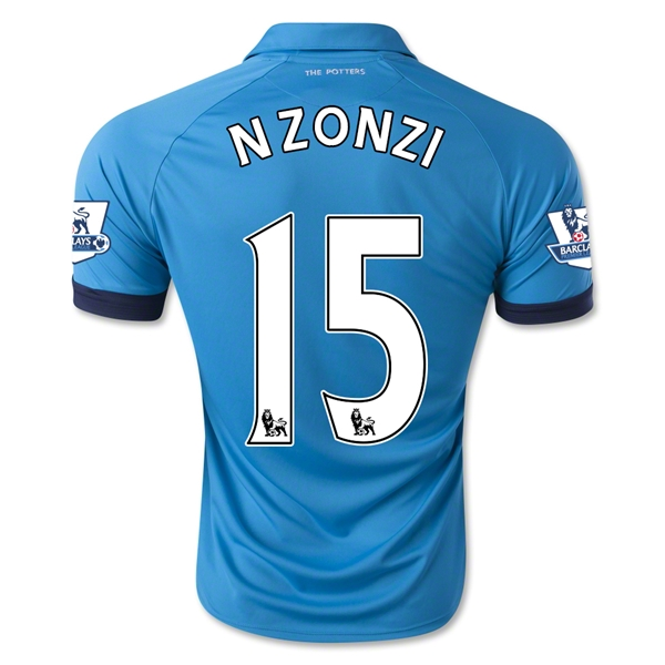 Stoke City 14/15 NZONZI Away Soccer Jersey