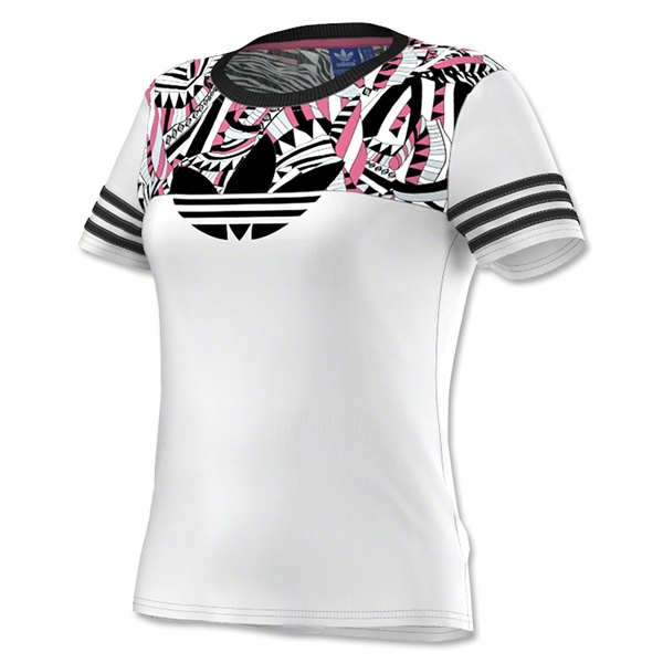 adidas Originals Women's Sport Printed Graphic Top (Wh/Bk)