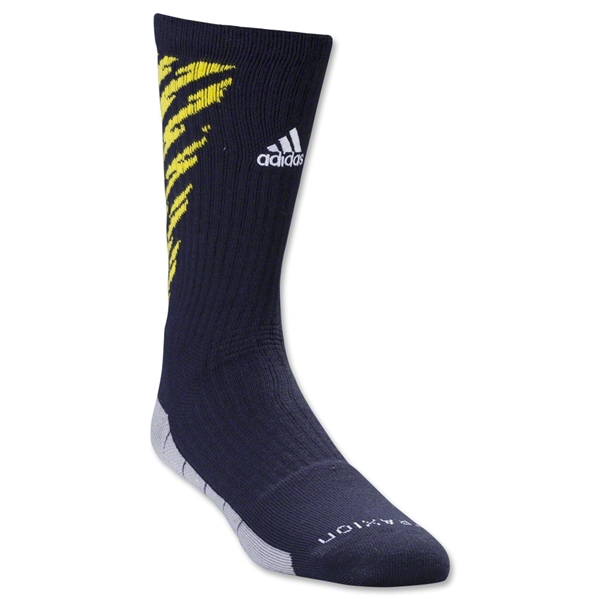 adidas Team Speed Traxion Shockwave Crew Sock (Nvy/Yel)