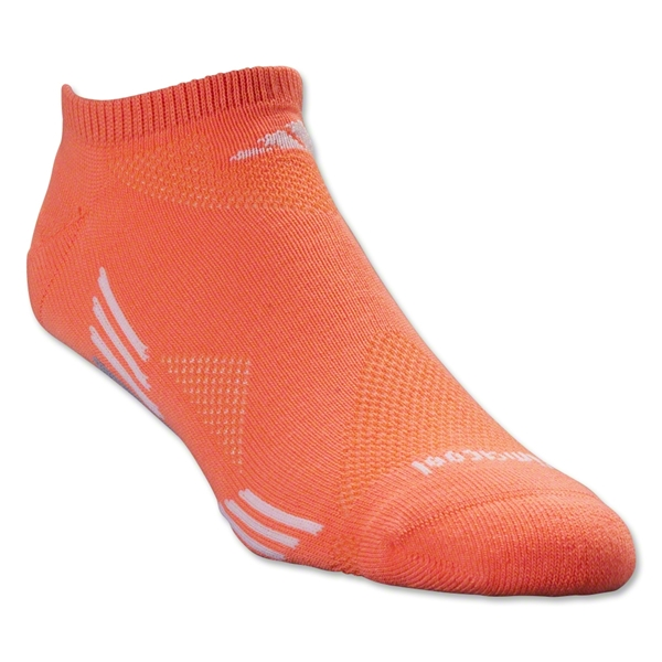 adidas Women's ClimaCool X 2 Pack No Show Sock (Org/Blk)