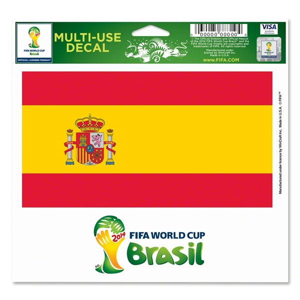FIFA World Cup 2014(TM) Spain 5x6 Decal
