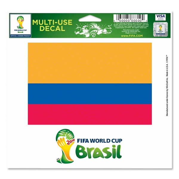 Colombia FIFA World Cup 2014(TM) 5 x 6 Decal