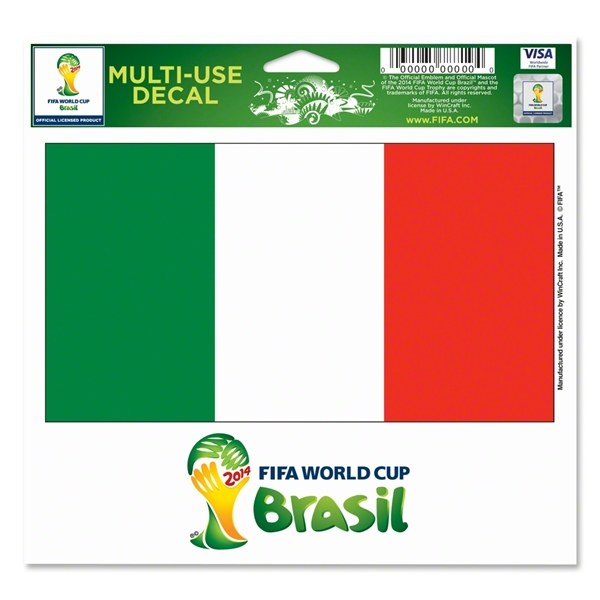 Italy FIFA World Cup 2014(TM) 5 x 6 Decal