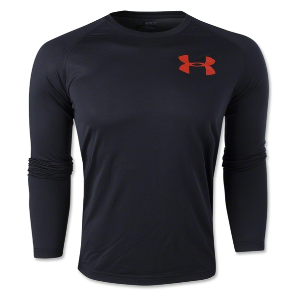 Under Armour Core Graphic Long Sleeve T-Shirt (Black)