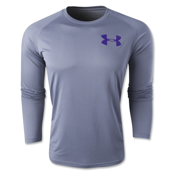 Under Armour Core Graphic Long Sleeve T-Shirt (Gray)