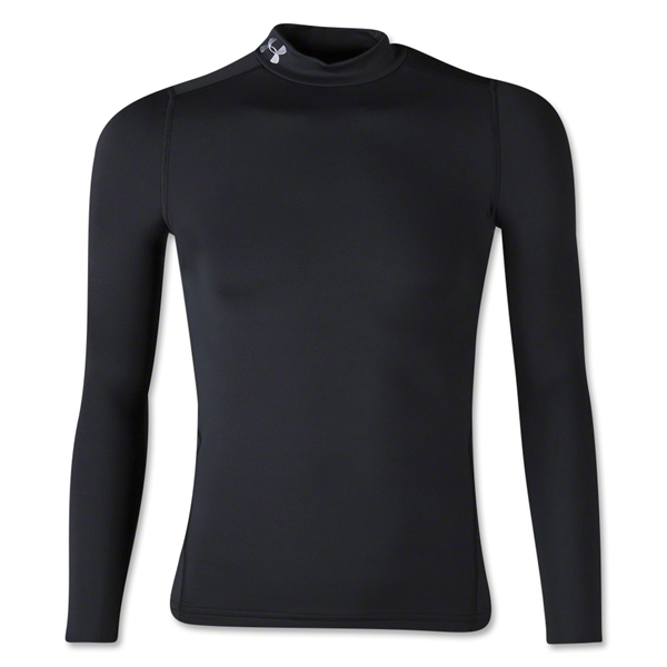 Under Armour Youth ColdGear EVO Fitted Long Sleeve Mock (Black)