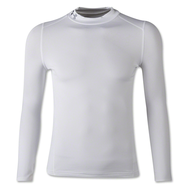 Under Armour Youth ColdGear EVO Fitted Long Sleeve Mock (White)