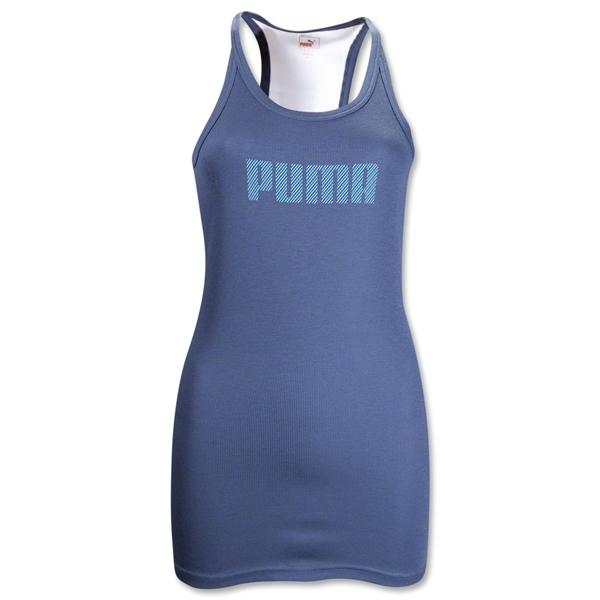 PUMA Women's Performance Racerback Tank (Blue)