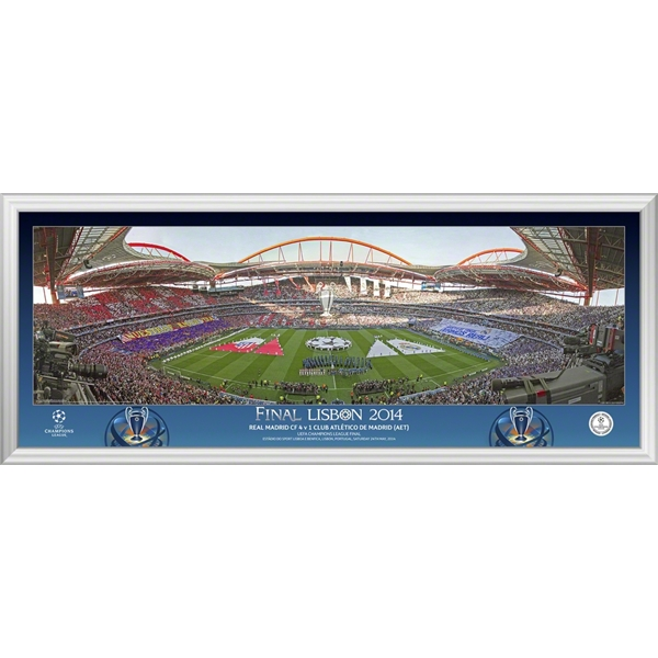 UCL 2014 Final Line Up Framed Print (14x6)