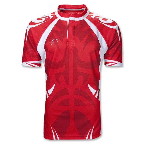 WRS Tribal SS Rugby Jersey (Red)