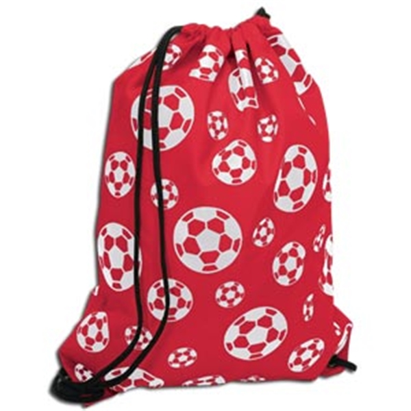 Soccer Ball Sack Pack (Red)