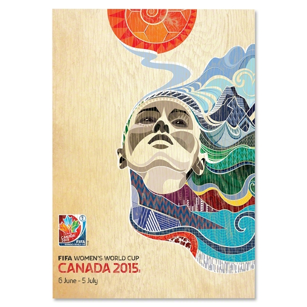 2015 FIFA Women's World Cup Canada(TM) Official Poster Bamboo Wood Print