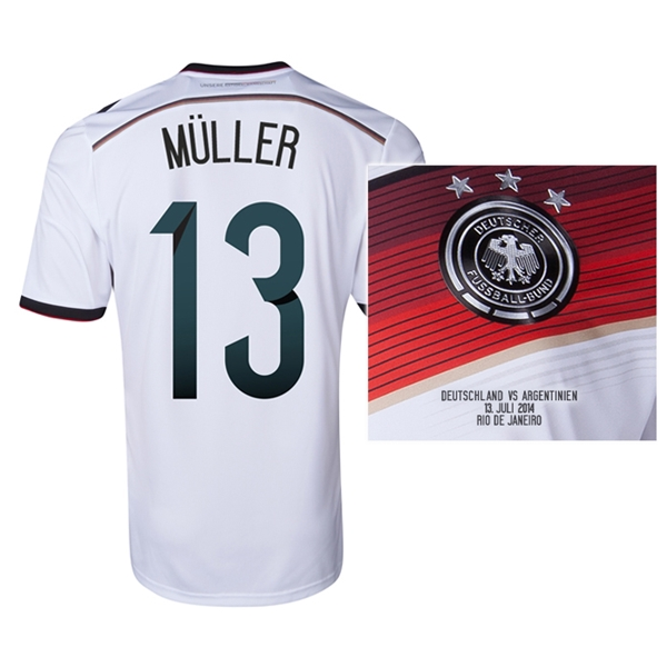 Germany 2014 MULLER 13 World Cup Final Commemorative Soccer Jersey
