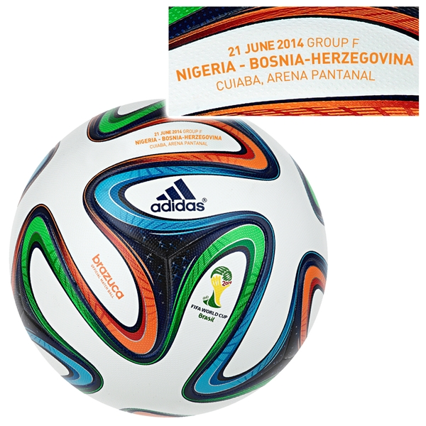 adidas Brazuca 2014 FIFA World Cup Official Match-Specific Ball (Nigeria-Bosnia-Herzegovina)