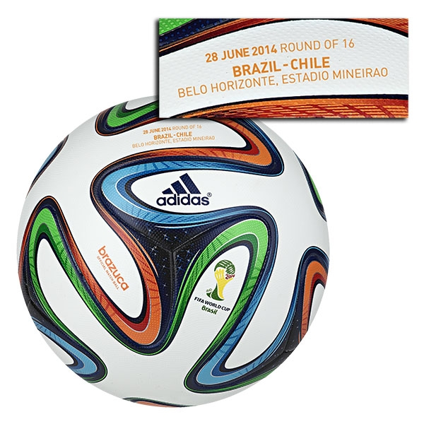 adidas Brazuca 2014 FIFA World Cup Official Match-Specific Ball (Brazil-Chile)