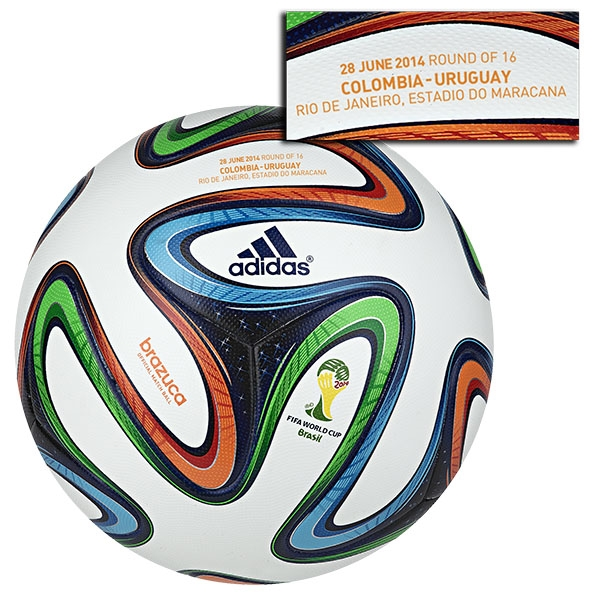 adidas Brazuca 2014 FIFA World Cup Official Match-Specific Ball (Colombia-Uruguay)